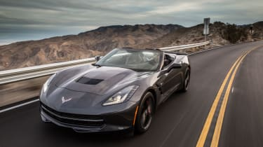 Chevrolet Corvette Stingray Convertible cornering