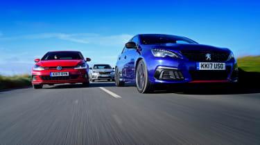 Peugeot 308 GTi vs VW Golf GTI vs Skoda Octavia vRS - head-to-head