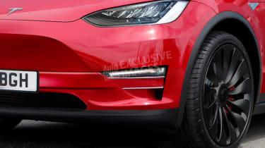 Tesla Model Y exclusive image - front detail
