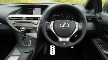 The cabin is typically Luxurious Lexus, with wood trim and good levels of standard equipment.
