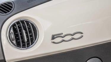 Fiat 500 dashboard badge