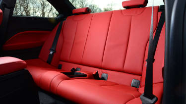 The 2 Series is better suited to carrying four passengers than the TT, while leather is an £800 option.