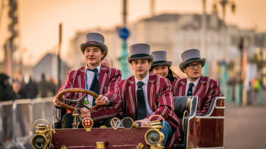 London to Brighton Veteran Car Run  -  quartet finish