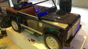 """<!--StartFragment--><span face=""""Calibri, Verdana, Helvetica, Arial"""">If you can't quite stretch to buying one of the last Defenders to roll off the production line, Land Rover have a small consolation prize for you. The Defender pedal c"""