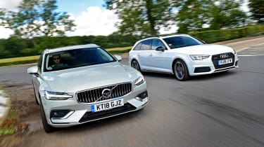 Volvo V60 vs Audi A4 Avant - head-to-head