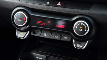 Kia Rio facelift - centre console