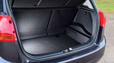 The Kia Venga offers a false boot floor for secure storage.