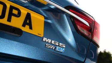 MG 5 EV - rear badge