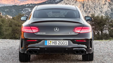 New Mercedes C-Class Coupe - rear