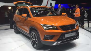 SEAT Ateca - Geneva show front orange