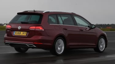 vw golf estate tracking rear quarter