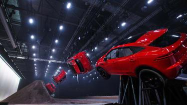 Jaguar E-Pace barrel roll world record stunt comp