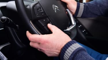 Citroen C4 Picasso long termer third report - steering wheel