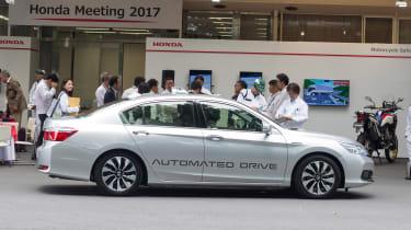 Honda autonomous car - side
