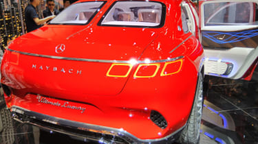 Mercedes-Maybach SUV rear red