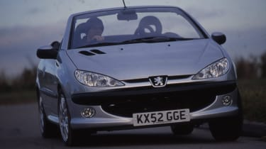 Best cheap convertibles - Peugeot 206 CC