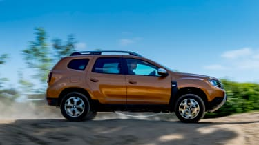 Dacia Duster side action