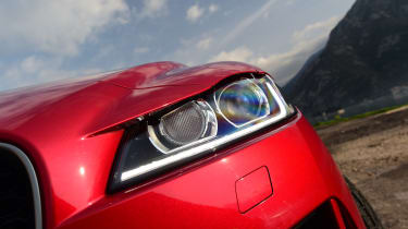 Jaguar F-Pace first drive - headlight