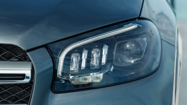 Mercedes GLS - grey front light