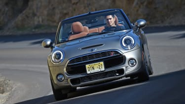 MINI Cooper S Convertible 2016 review - front cornering 2