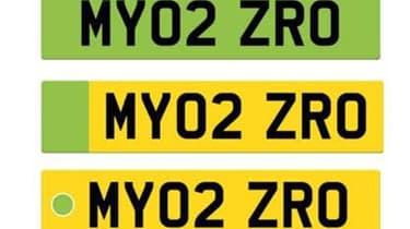 Green numberplate designs
