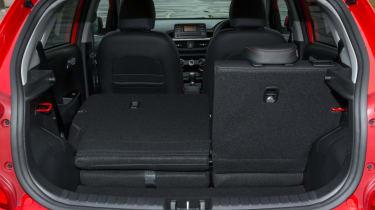Triple test –Kia Picanto - seat folded