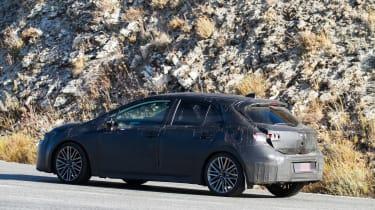 New Toyota Auris spied rear side