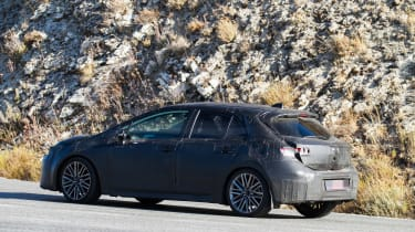 New Toyota Auris spied rear side