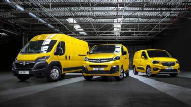 Vauxhall electric van range