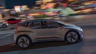 Audi AI:ME concept - side action