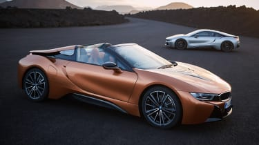 BMW i8 Coupe and Roadster - side