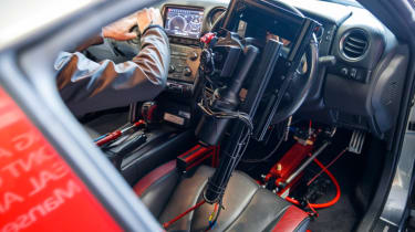 Remote control Nissan GTR/C - inside shot