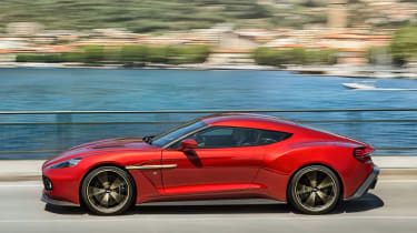 Aston Martin Vanquish Zagato - side tracking