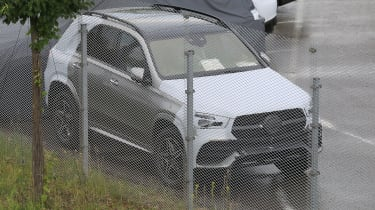 Mercedes GLE spied top
