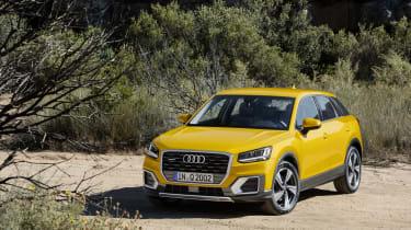Audi Q2 Yellow front static