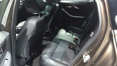 Infiniti QX30 SUV LA Show rear seats