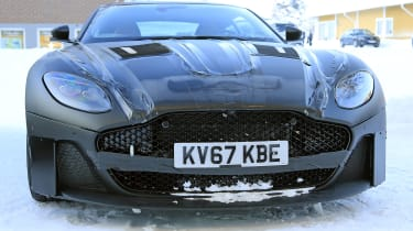 Aston Martin Vanquish winter spy