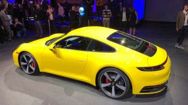 Porsche 911 - LA Motor Show - yellow rear