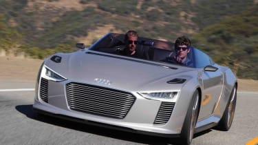 Audi e-tron Spyder front cornering