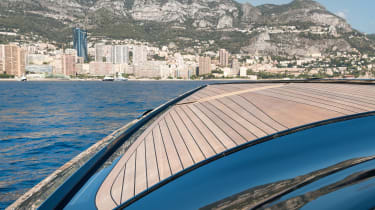 Aston Martin AM37S boat - front view