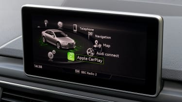 Audi A4 S Line - infotainment screen