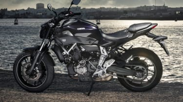 Yamaha MT-07 review - side profile