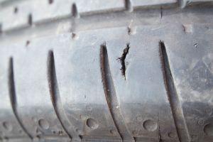 Damaged tyre