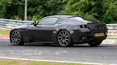 Aston Martin V8 Vantage spy shot - rear cornering