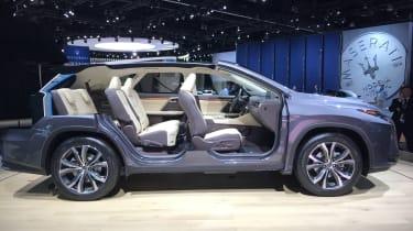 Lexus RX L LA show pic seats