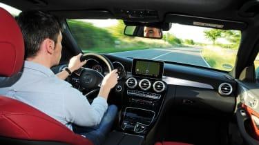 Mercedes C250 BlueTEC Estate AMG Line driving