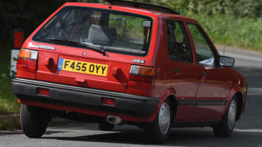 Long term Nissan Micra - second report - mk1 Micra action rear