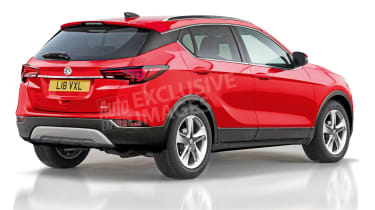 Vauxhall Astra SUV exclusive image - rear (watermarked)