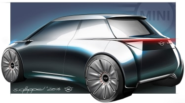 MINI Vision Next 100 concept - sketch rear