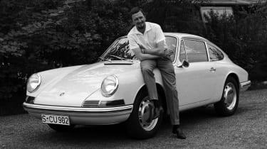 Ferdinand Porsche with 911